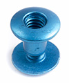 Blue Metallic Aluminum Chicago Screws Posts & Screws